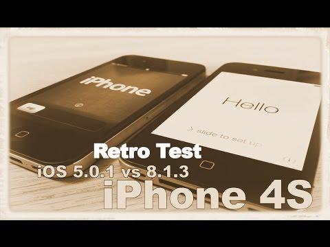 Retro Test : iPhone 4S iOS 5.0.1 vs 8.1.3
