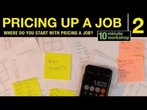 Pricing up a job, Part 2 #161