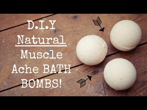 D.I.Y Natural Muscle Ache Bath Bombs // Menstrual Cramps // Muscle Pains // Body Aches