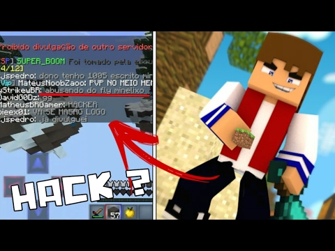 Me Chamaram de Hack Voando na Partida SkyWars TrollandoPlayers ‹ Minecraft PE ›
