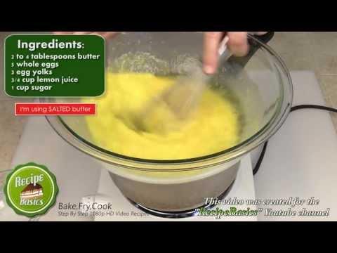Easy Lemon Curd Recipe / Lemon Filling Recipe