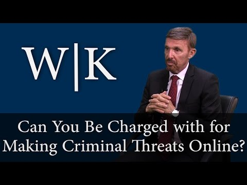 Can You Be Charged with a Crime for Making Criminal Threats Online?