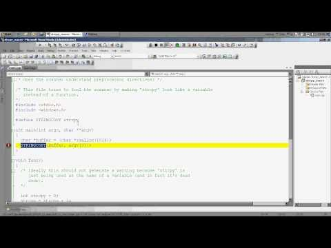 Using Coverity plug-in for VS 2008 to analyze C++ source Code ניתוח קוד סטאטי