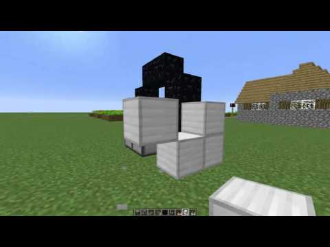Minecraft Tutorial - Tiny One Button Nether Portal