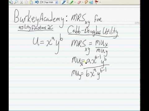 MRS for Cobb Douglas Utility: The EASY WAY!!!