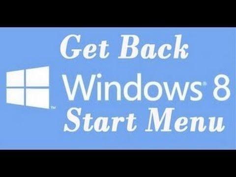 How to get a start menu on Windows 8!