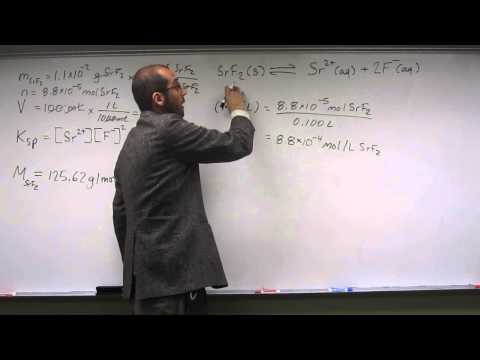 Calculate Solubility Product Constant (Ksp) From Mass and Volume 002
