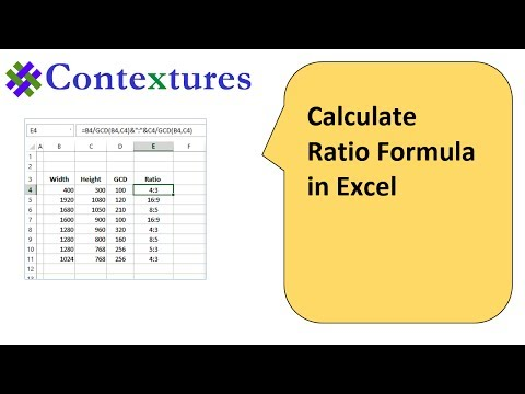 Calculate Ratio with Excel Formulas