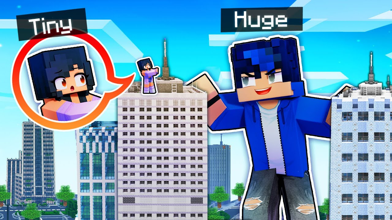I'm TINY and He's HUGE In Minecraft!