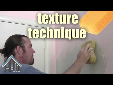 how to texture wall, apply texture, swirl. Easy! Home Mender