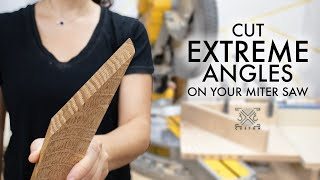 How to cut EVERY ANGLE on your Miter Saw - Acute Angle Jig - Quick Tip