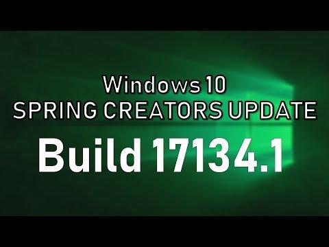 Windows 10 Spring Creators Update Build 17134.1