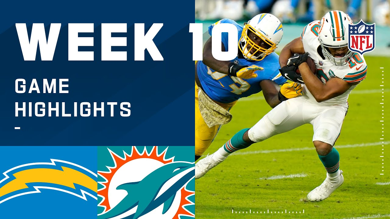 Chargers vs. Dolphins Week 10 Highlights | NFL 2020