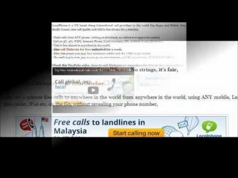 How to Make Free Phone Calls to Malaysia from Mobile?