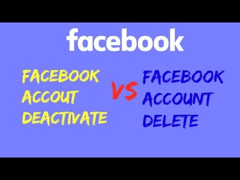 Difference Between Facebook Account Deactivate And Facebook Account Delete & Live Practical