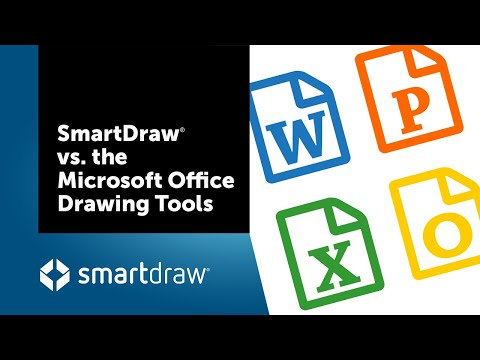 SmartDraw vs the Microsoft Office Drawing Tools