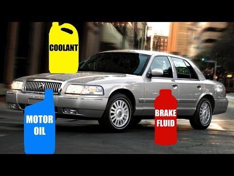 Motor Oil & Fluid Types for Mercury Grand Marquis 1998-2011