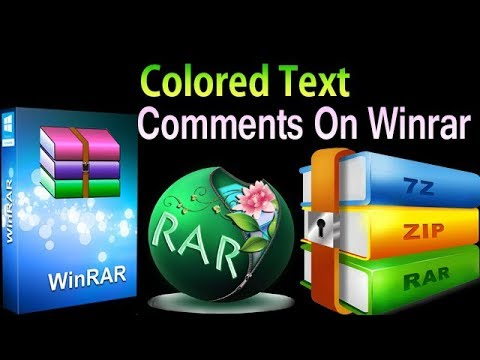 How To Color Comment In Winrar USE