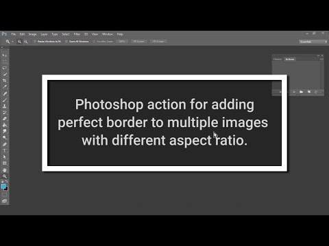 Photoshop action for adding border to multiple images with different aspect ratio