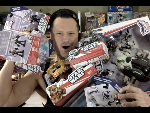 LIVE May The 4th Be With You Star Wars Playskool Galactic Heroes Disney Collection Unboxing Review