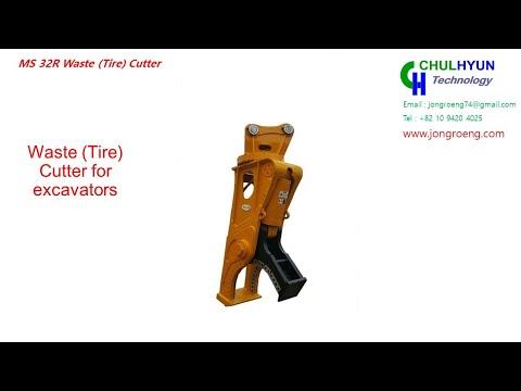Waste tire cutter (MS15MR) -  Tire cutter
