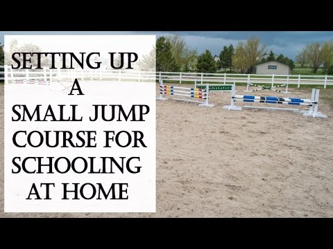 Setting Up A Small Horse Jump Course At Home