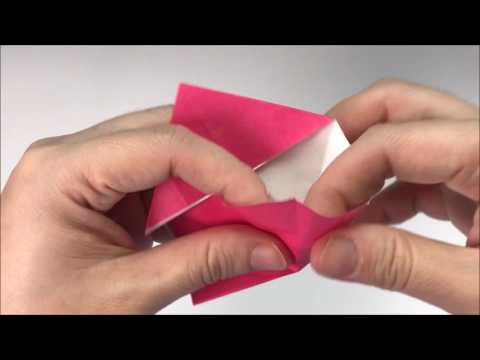 [How to] make a heart with square and rectangle paper