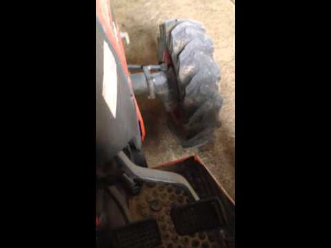 how to drive a Kubota tractor