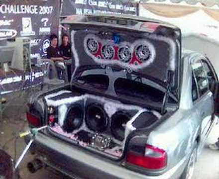 Custom Modified Car Audio Bass Lighting Show Proton Wira Perodua