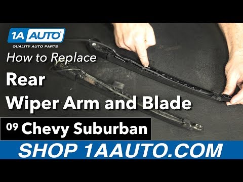 How to Replace Install Rear Wiper Arm 2009 Chevy Suburban