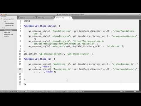 Working with CSS and JS in WordPress Themes- How to Link to JS from functions php File