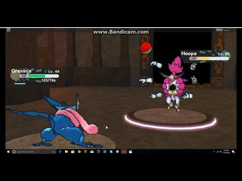Roblox Pokemon Brick Bronze: Caught Hoopa With a Pokeball