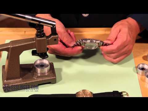 How to Remove Gasket Fit & Tension Ring Watch Crystals with a Crystal Press