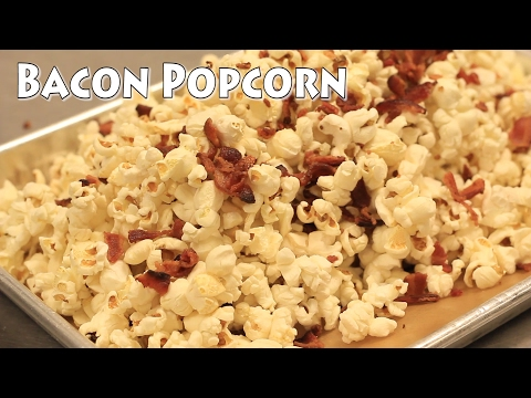 Bacon Popcorn - Does cooking popcorn in Bacon Fat add Bacon Flavor?