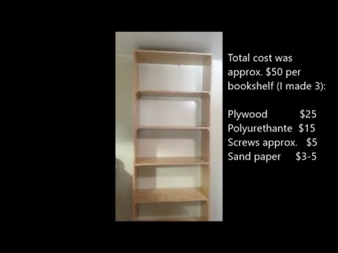 How to build quality bookshelves, or bookcase, for less than $50