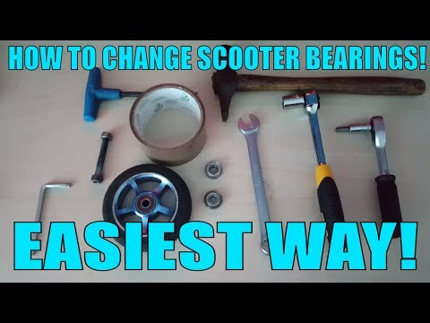 HOW TO CHANGE SCOOTER BEARINGS | EASIEST WAY! 2018