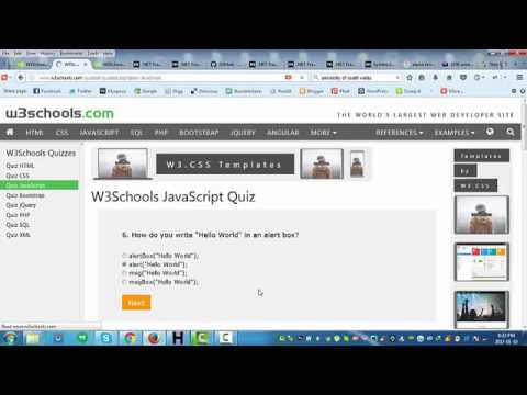 W3Schools JavaScript Quiz Walkthrough