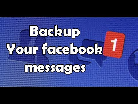 How to Backup/recover deleted facebook messages