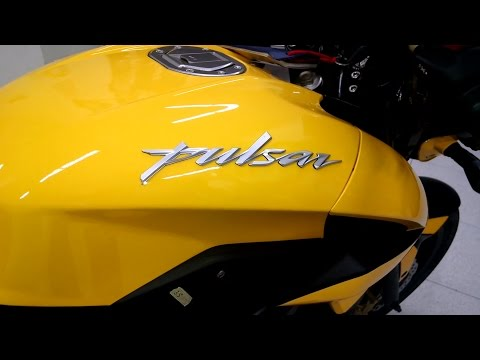 Bajaj pulsar 150NS walk around Yellow