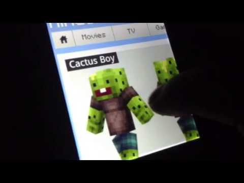 How to change your skin on minecraft pe (android)
