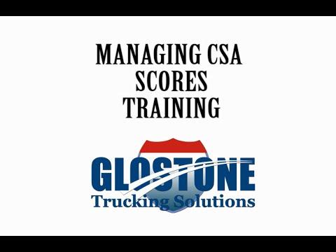 Managing CSA Scores Training | Glostone Trucking Solutions