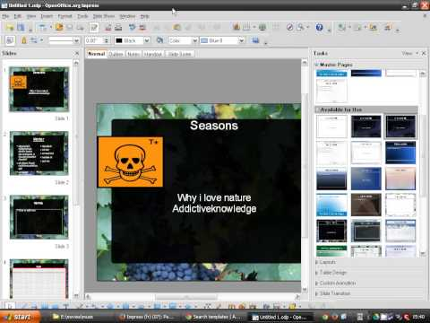 OpenOffice Impress (07): Master pages (templates)