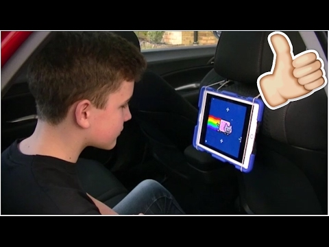 How To Make A Quick iPad Holder For Long Car Journeys!