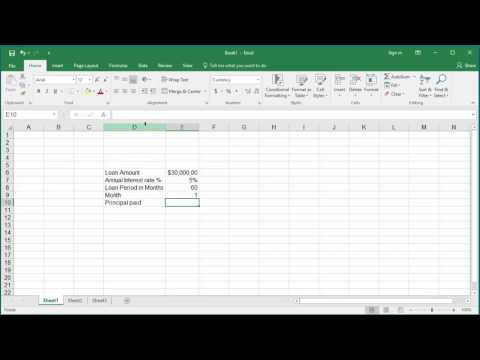 How to Calculate the Principal Amount paid in a Specific Month for a Loan in Excel 2016