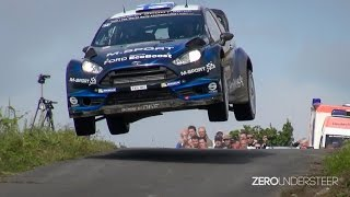 WRC Rally Deutschland 2014 | crashes, close calls jumps and drifts