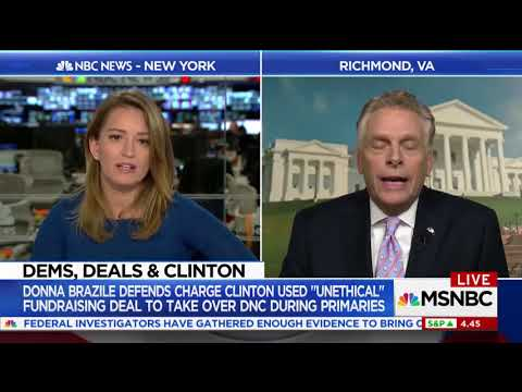 "VA Gov. Terry McAuliffe: ""Nobody Cares"" If The DNC Rigged Dem Primary For Hillary Clinton"
