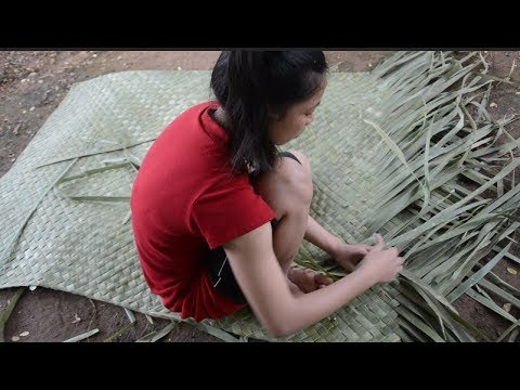 Primitive Technology Woven bark fiber palm leaf