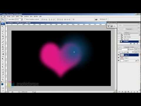 Creation of a Glowing Heart In Photoshop