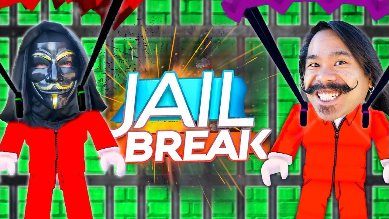 CLOAKER HELPS ME ESCAPE PRISON! Jail Break Roblox Hiding Clues in a Volcano