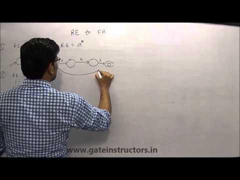 Regular Expression to Finite Automata DFA NFA   Automata Theory   095
